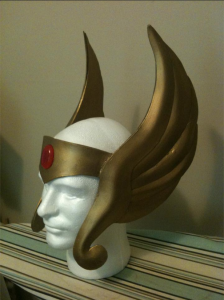 The finished headpiece