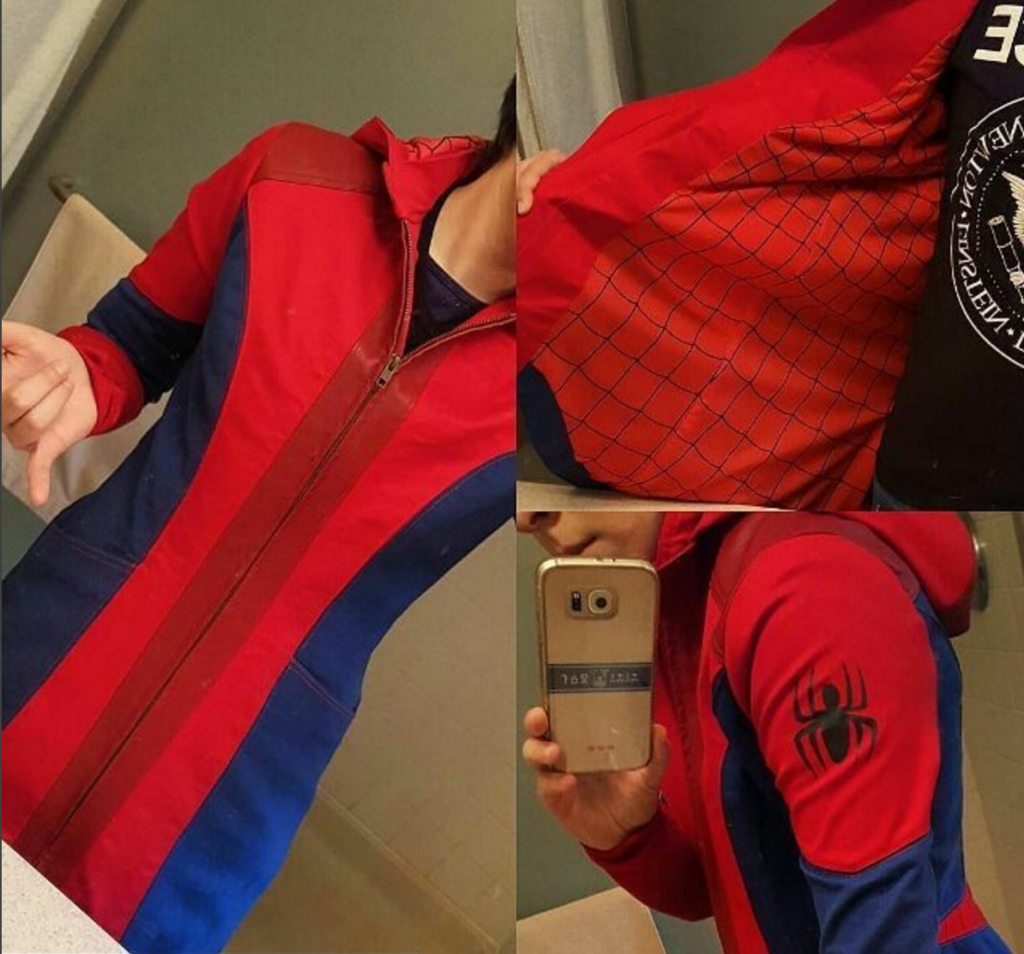 Seams Geeky Cosplay Spider-Man coat